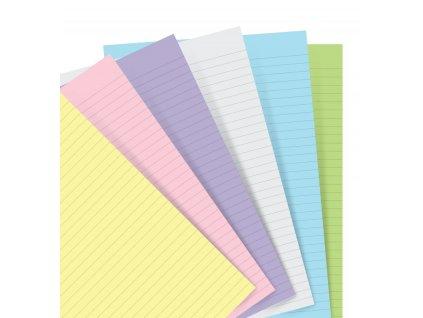 organiser refill a5 pastel ruled paper 1 2