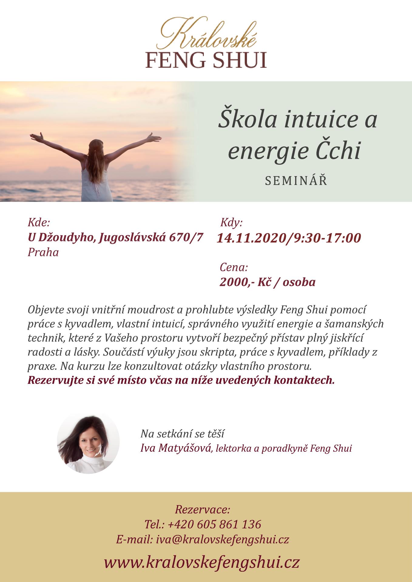 FENG SHUI – ŠKOLA INTUICE A ENERGIE ČCHI (14.11.2020 - 9:30-17:00hod)