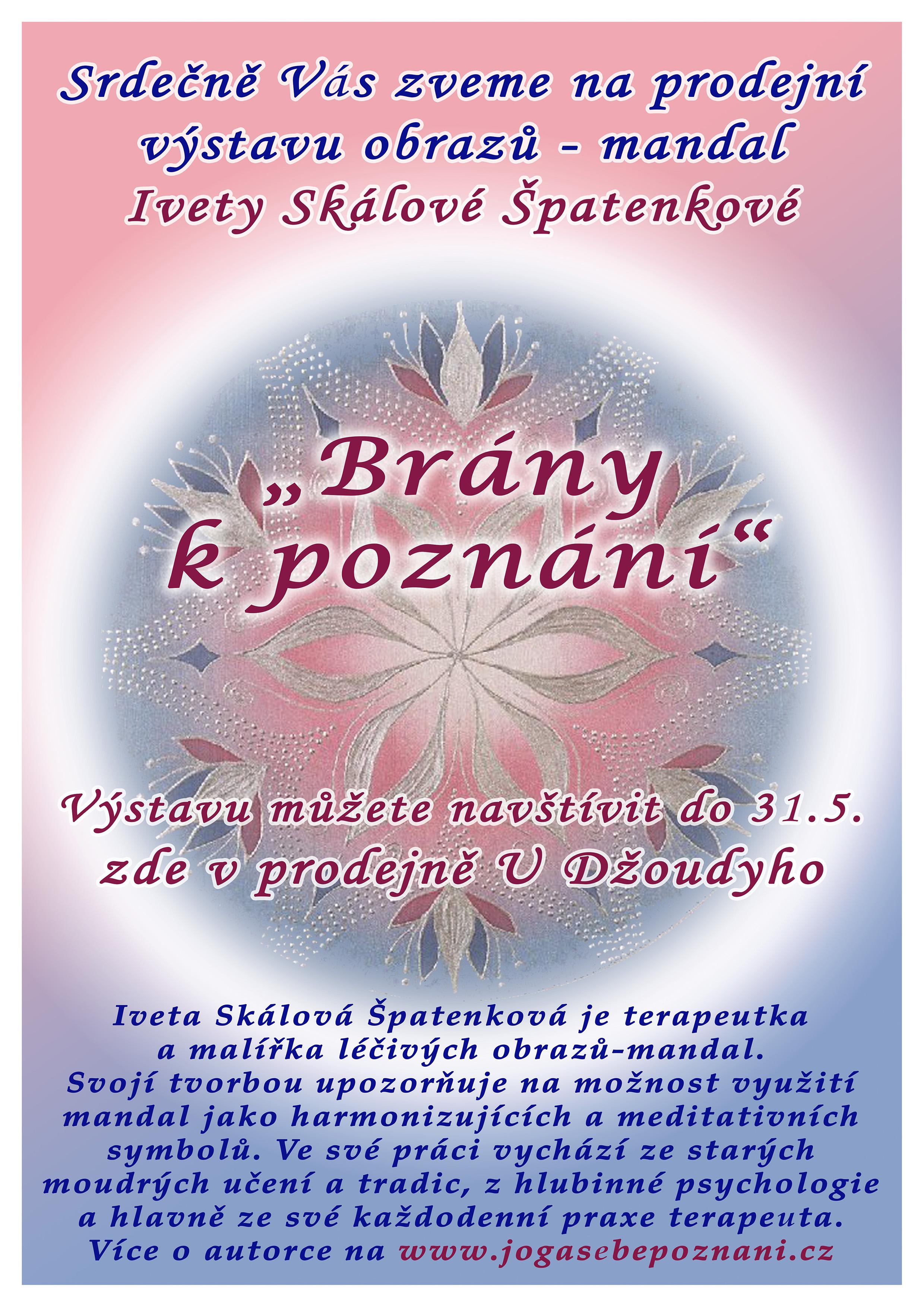 VÝSTAVA: Prodejní výstava obrazů - mandal od autorky Ivety Skálové Špatenkové (PRODLOUŽENA do 11.6.2021)