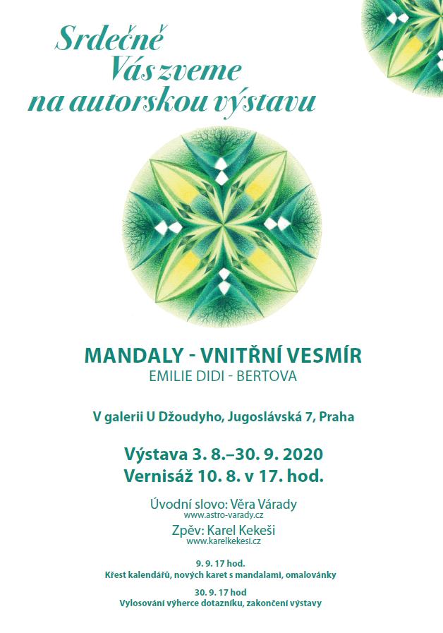 Vernisáž autorských mandal od Emilie Didi - Bertové (10.8.2020 v 17.00 hod.)