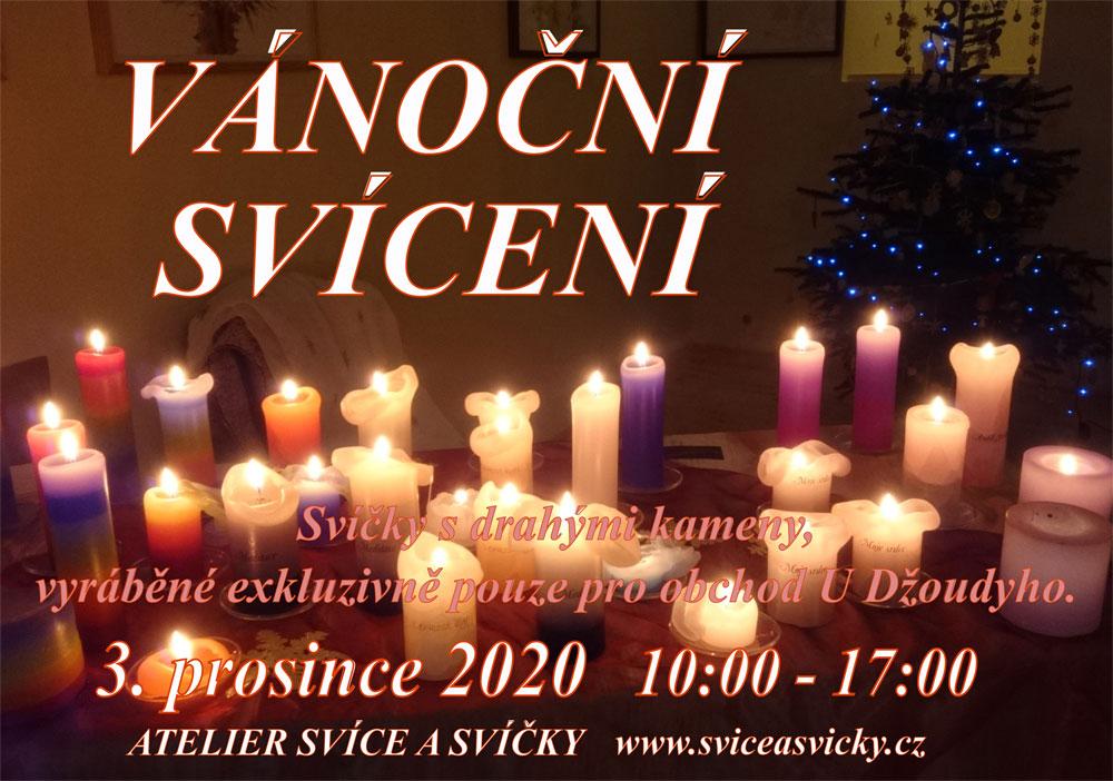 VÁNOČNÍ SVÍCENÍ (Atelier Svíce a svíčky) - 03.12.2020 - 10:00 - 17:00 hod.