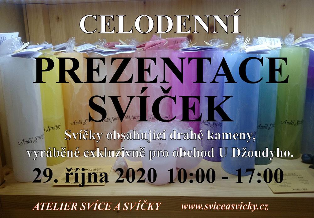 CELODENNÍ PREZENTACE SVÍČEK (Atelier Svíce a svíčky) - 29.10.2020 - 10:00 - 17:00 hod.