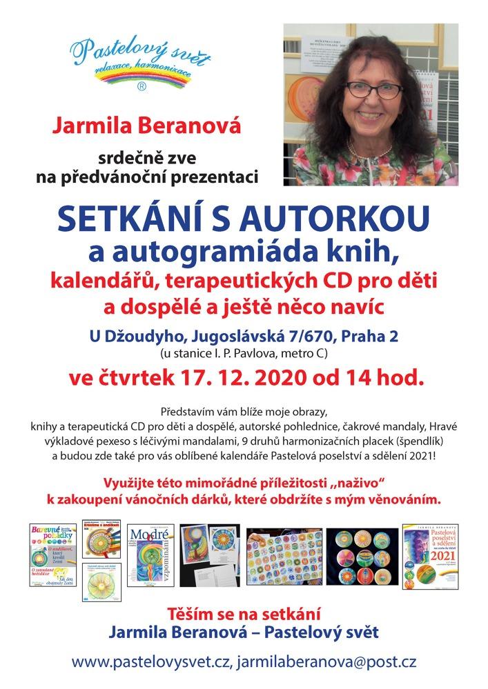 VÁNOČNÍ PREZENTACE A AUTOGRAMIÁDA - setkání s Jarmilou Beranovou (17.12.2020 - 14:00 - 18:00hod.)