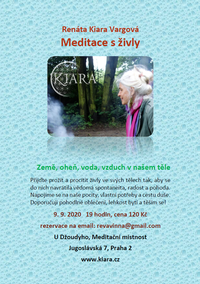 Meditace s živly (Renáta Kiara Vargová) - 09.09.2020 - 19:00 - 20:00hod.