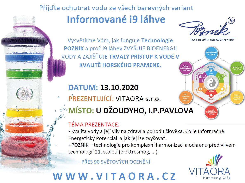 Prezentace: Informované i9 láhve - 13.10.2020 (13:00 - 18:00hod.)