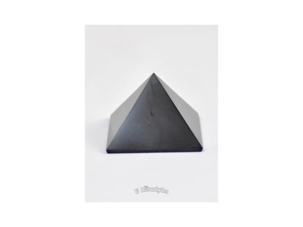 Šungit - pyramida L, 6 cm