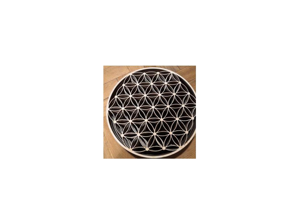 Výpalek - květ života - podšálek - 11 cm (vzor 2)