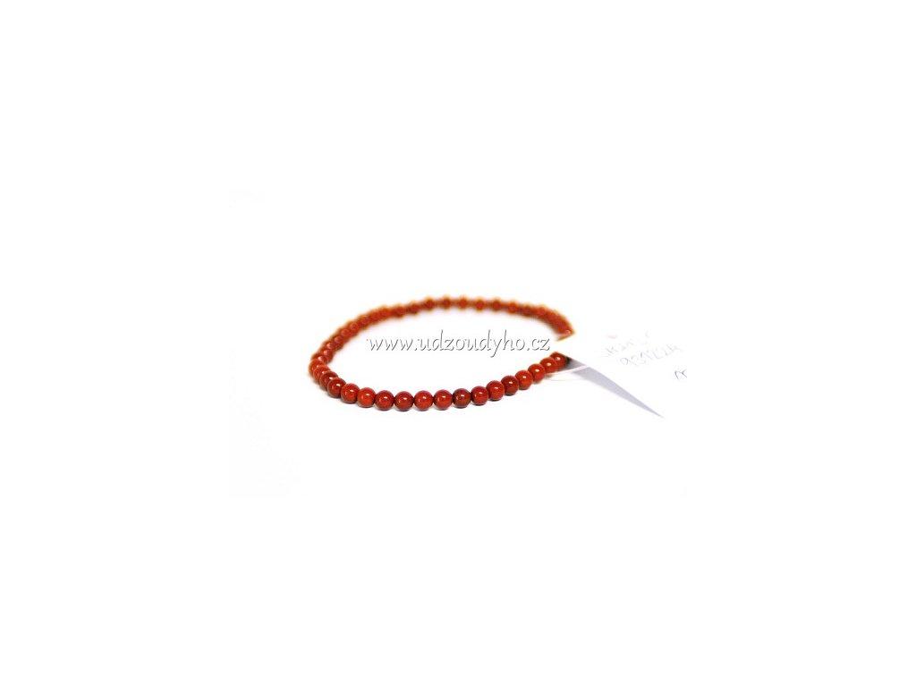 Jaspis červený - náramek mini kuličky