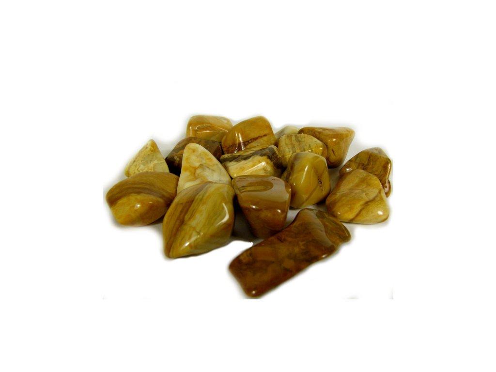 Tromlovaný jaspis žlutý