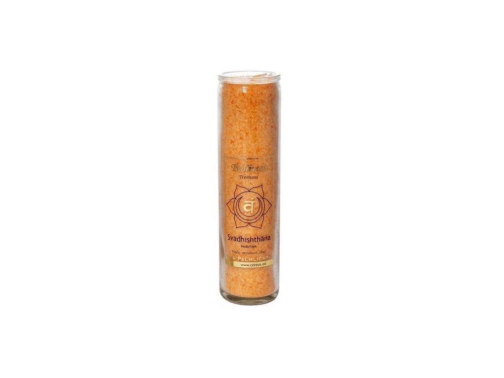 Svíčka ve skle - čakrová oranžová
