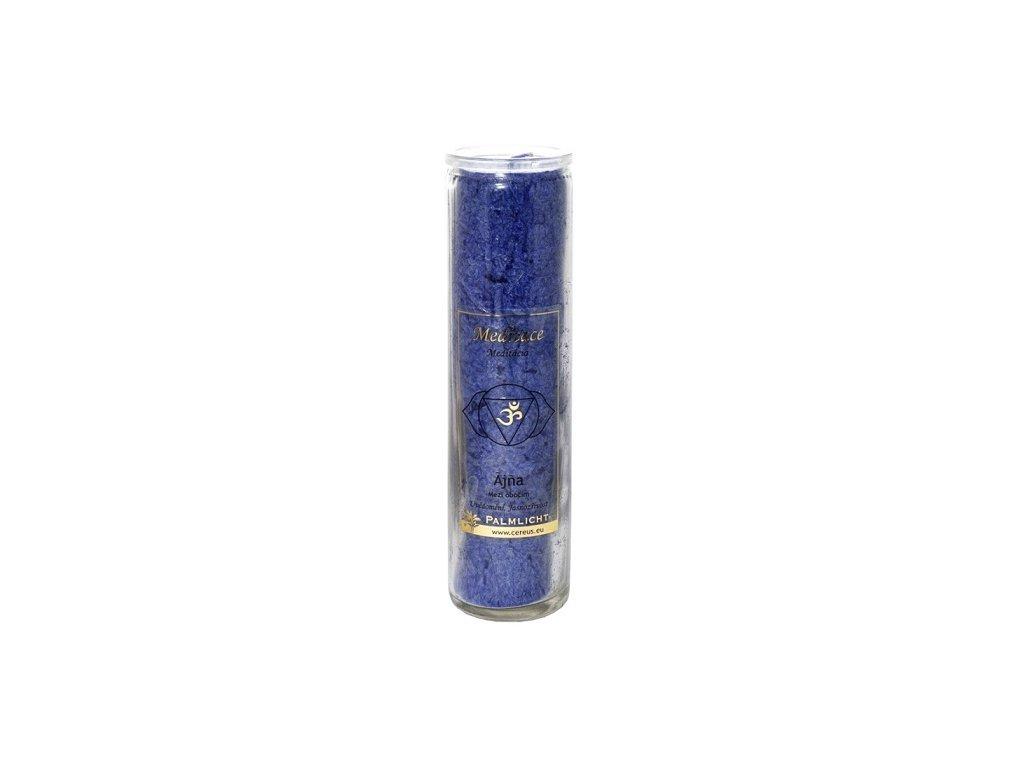 Svíčka ve skle -  čakrová královská modř