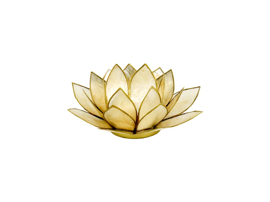 Svícen lotos zlatá perleť
