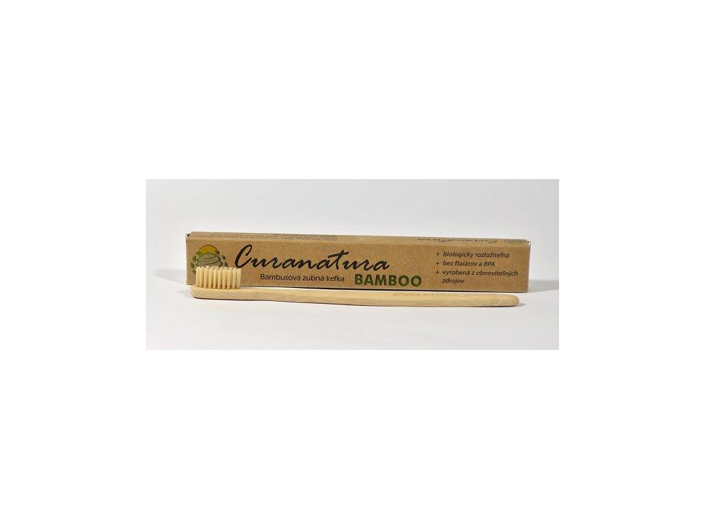 Bambusový zubní kartáček s bambusovými štětinkami – měkký