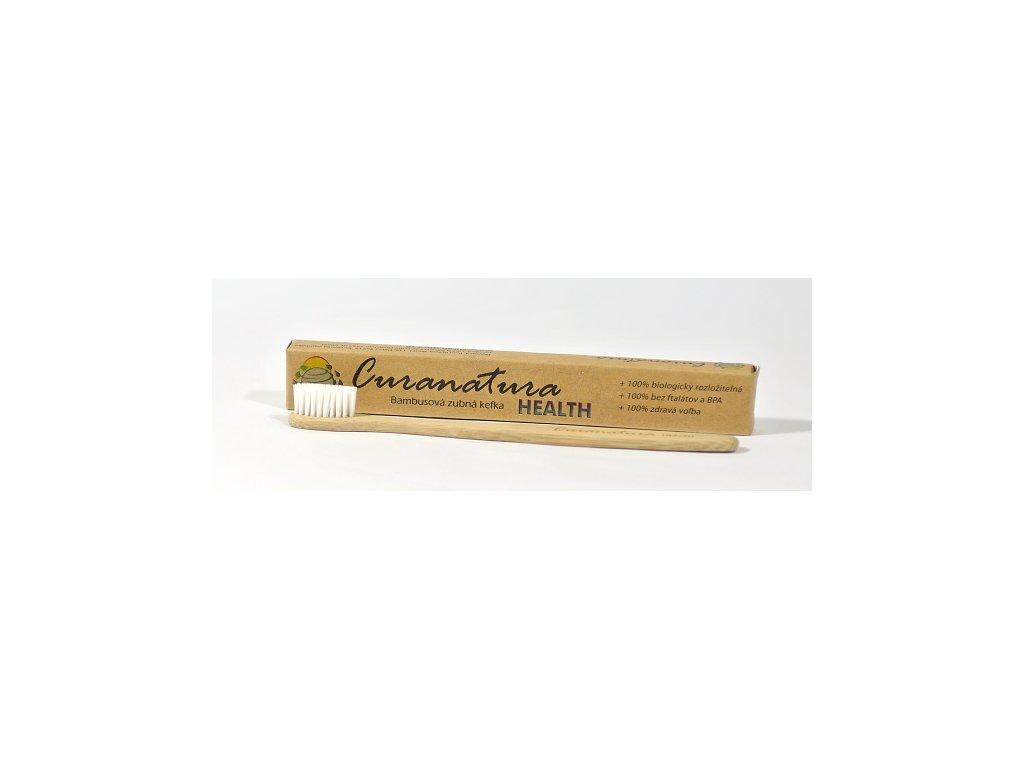 Bambusový zubní kartáček s nylonovými štětinkami – měkký