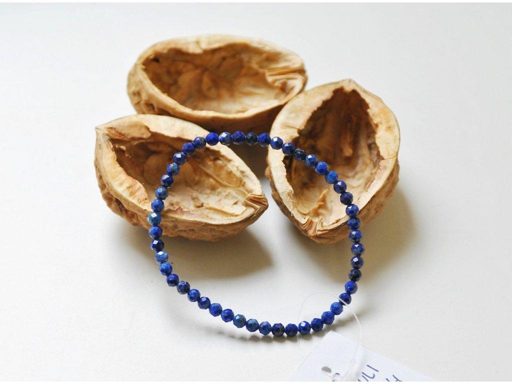 Lapis lazuli - náramek fazetovaný