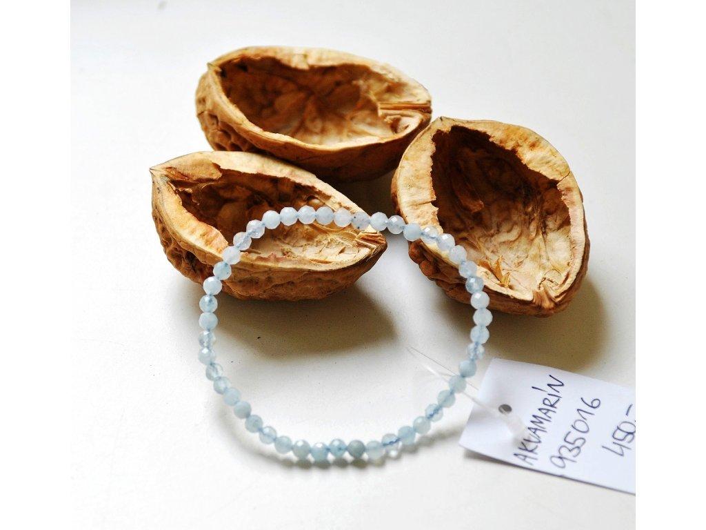 Akvamarín - náramek fazetovaný