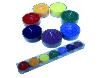 Sada čakrových svíček (čajové)