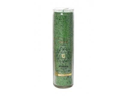Svíčka ve skle - čakrová zelená