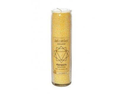 Svíčka ve skle - čakrová žlutá