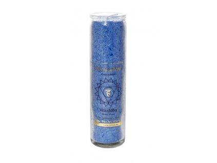 Svíčka ve skle - čakrová modrá