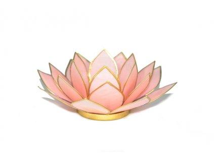 Svícen lotos růžový