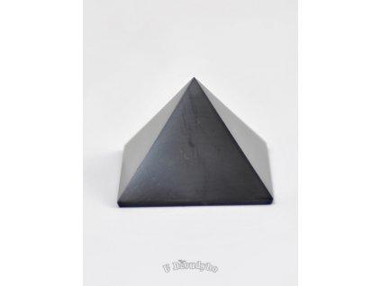 Šungit - pyramida S, 3 cm leštěná
