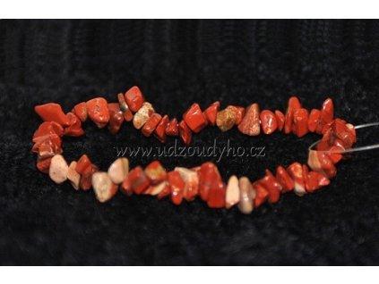 Jaspis červený - náramek sekaný