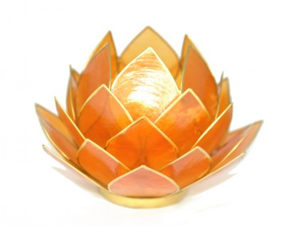Svícen lotos velký oranžový