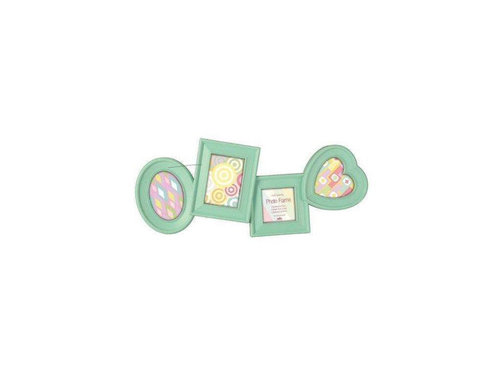 Dětský fotorámeček na více fotek Mint - 4 fotografie