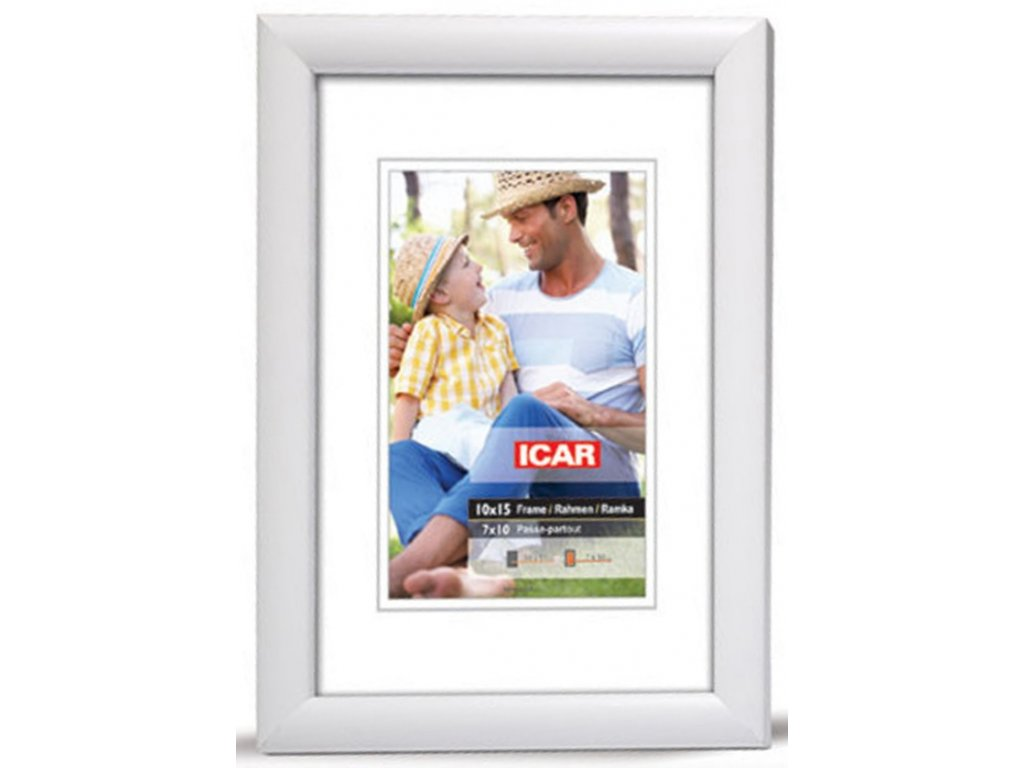 Fotorámeček dřevěný DRW H 9x13 - 01 bílý
