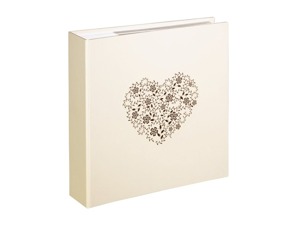 Fotoalbum svatební 10x15/200 s možností popisu ANZIO krémové