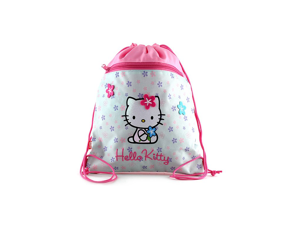 Sportovní vak Hello Kitty, Blue Flower
