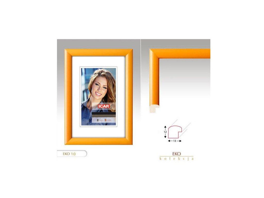 Fotorámeček dřevěný DRW H 13X18 - 10 žlutý