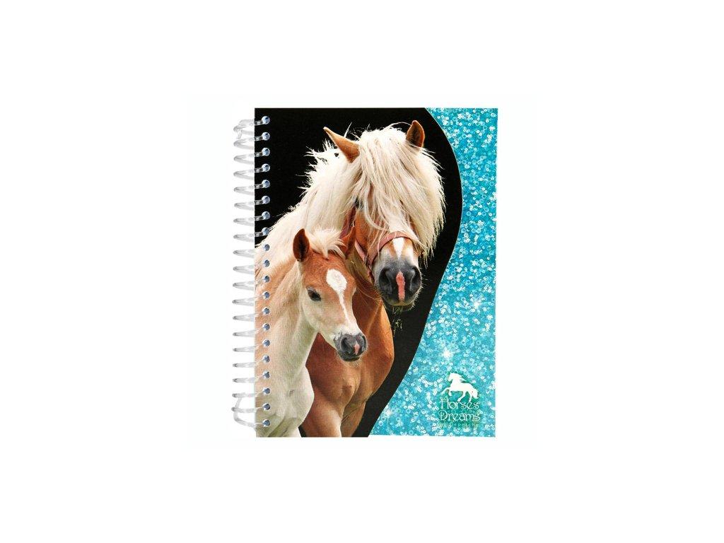 Zápisník Horses Dreams tyrkysové