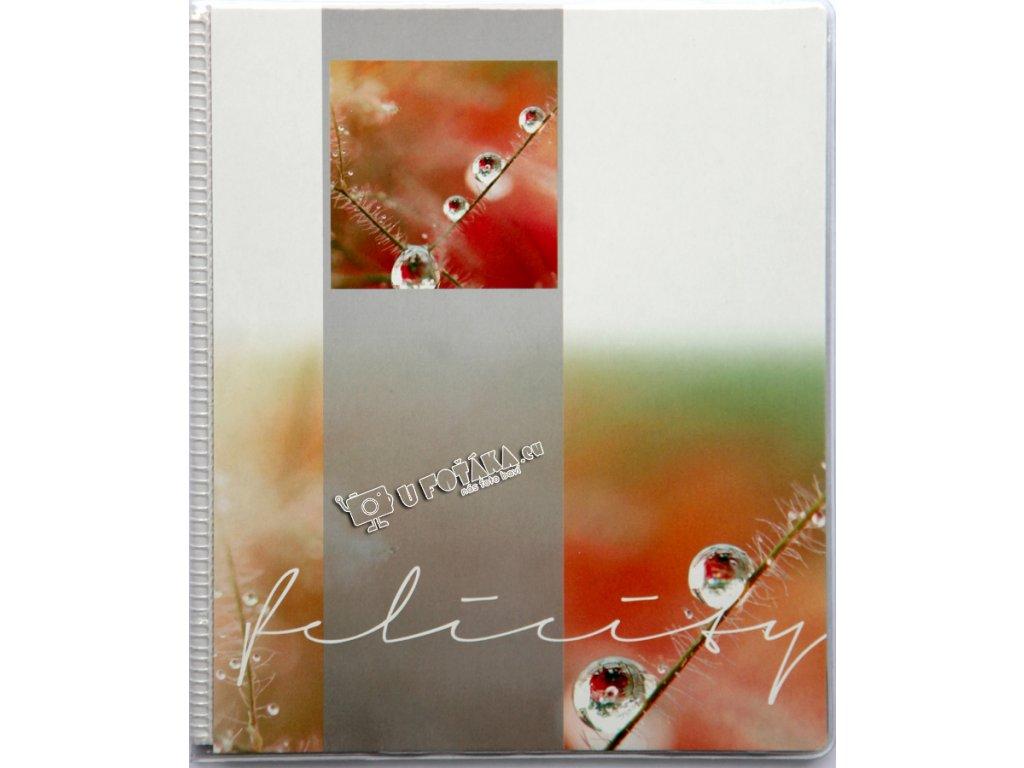 Fotoalbum11,5x15,5/20 kapky oranžové