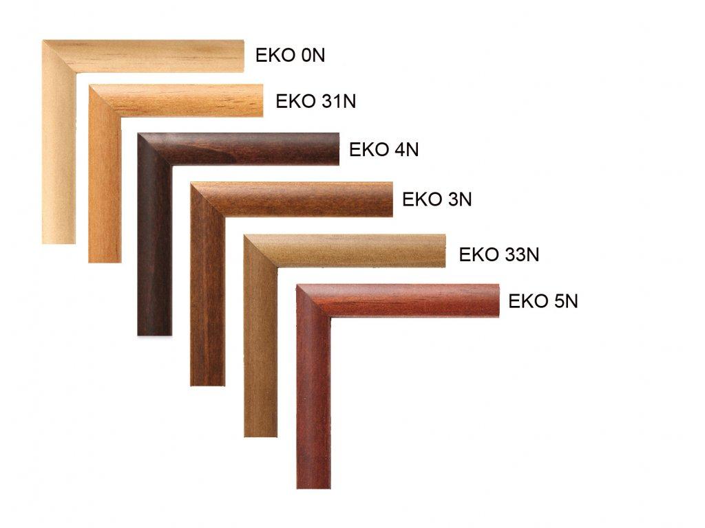 Fotorámeček dřevěný EKO 18x24 - 5N