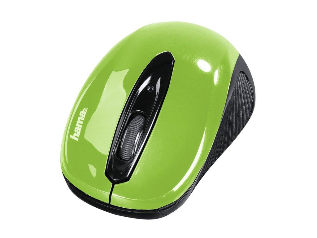 Myš optická  AM-7300, zeleno/černá