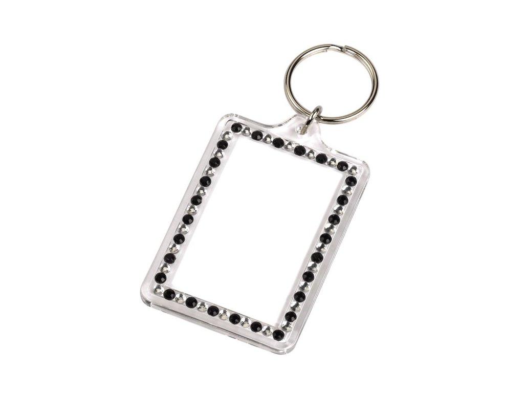 Přívěšek na klíče Fashion, černo stříbrný Hama