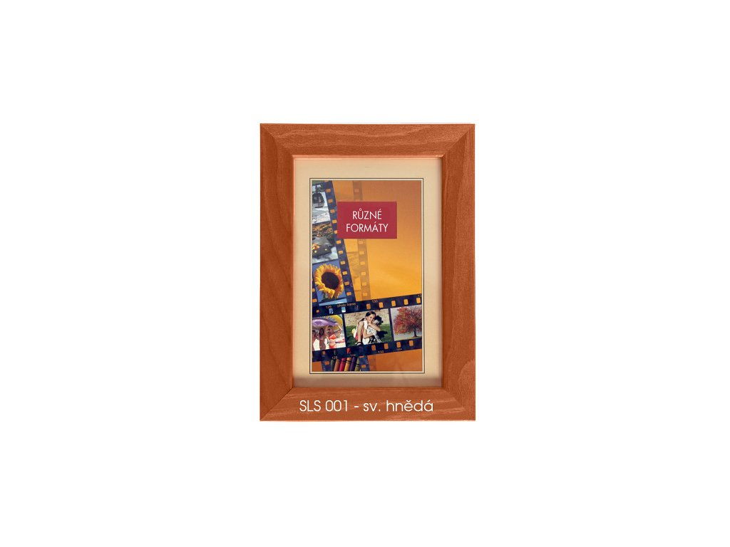 Fotorámeček dřevěný SLS 13X18 - 01 hnědý