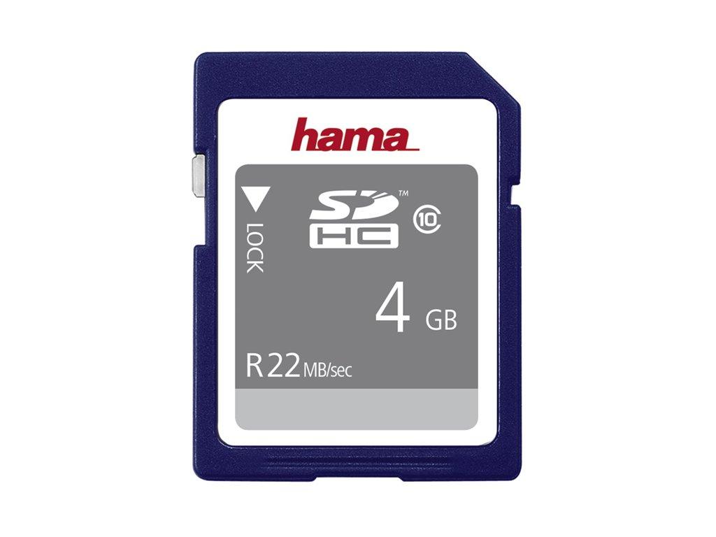 Paměťová karta SDHC HAMA 4GB CLASS 10