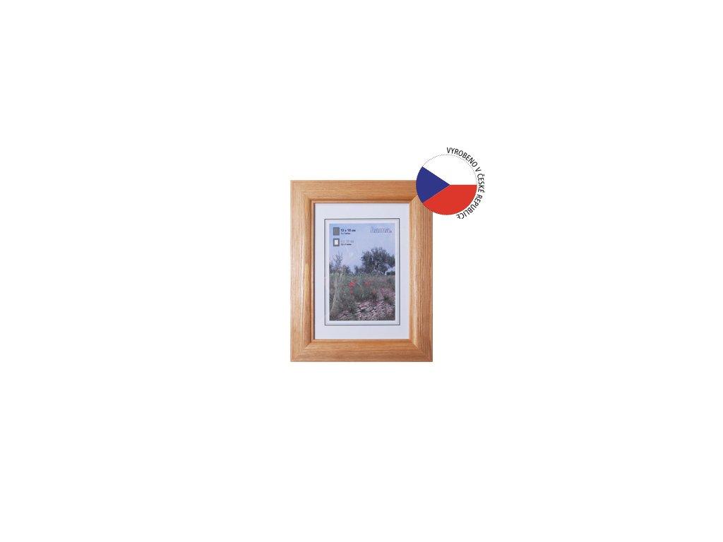 Fotorámeček 40x60 dřevěný HAMA LORETA, ořech