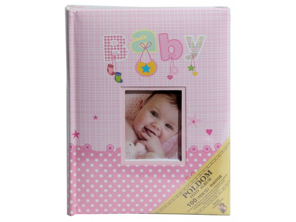 Fotoalbum 10x15/100 BABY růžové