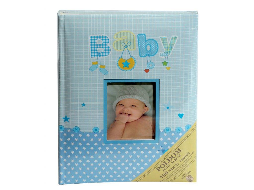 Fotoalbum 10x15/100 BABY modré
