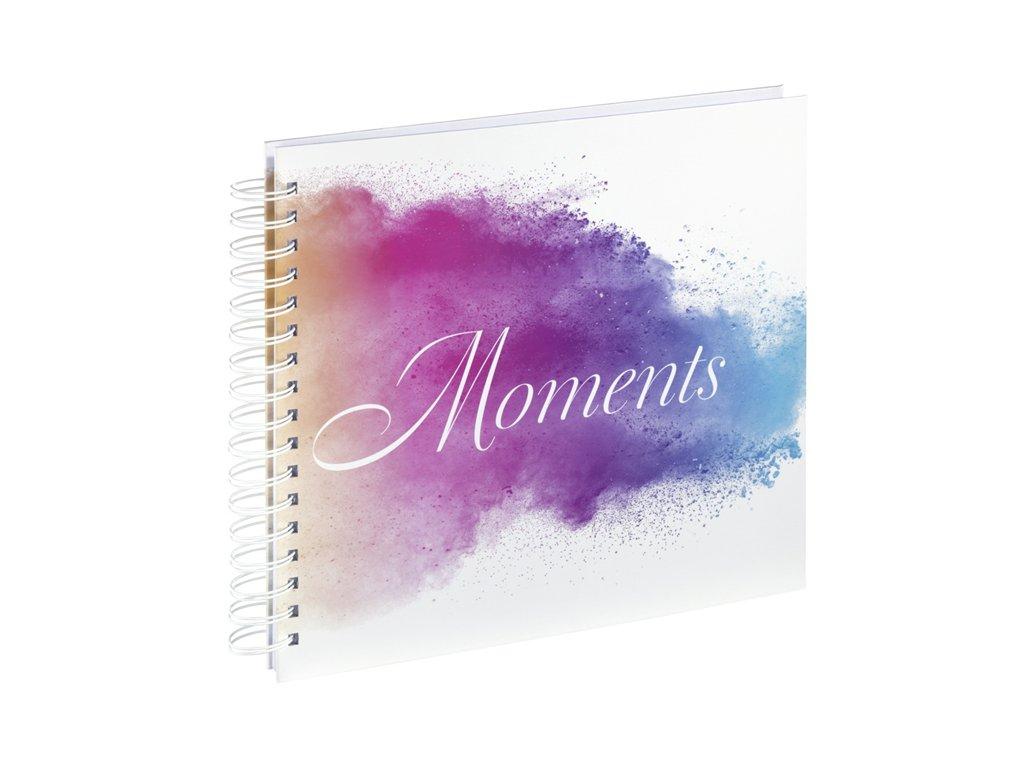 Scrapbook Fotoalbum na spirále pro tvořivou úpravu akvarel barevný