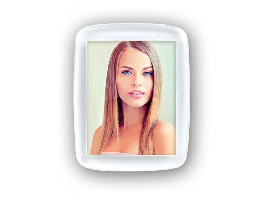 Fotorámeček 3,5 x 4,5 cm akrylový -  MAGNET+1 FOTO
