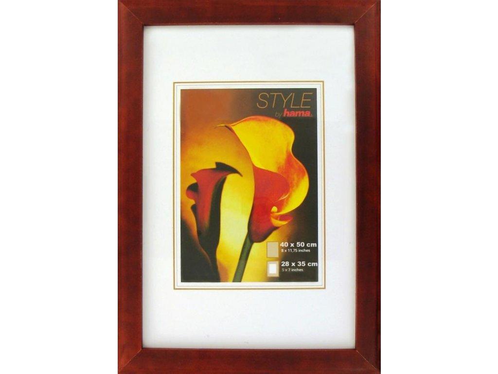 Fotorámeček dřevěný KÖLN bordový 40x50