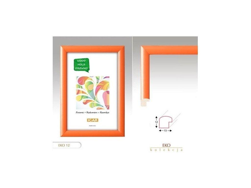 Fotorámeček dřevěný DRW H 9x13 - 12 oranžový