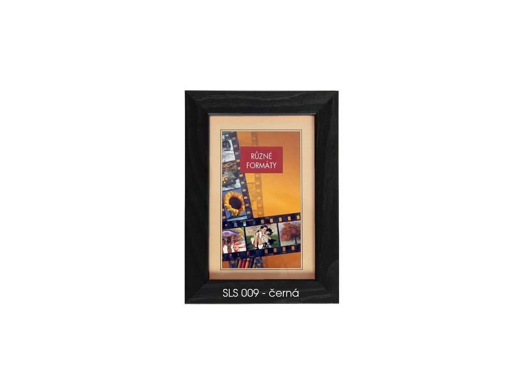 Fotorámeček dřevěný SLS 18x24 - 09 černý