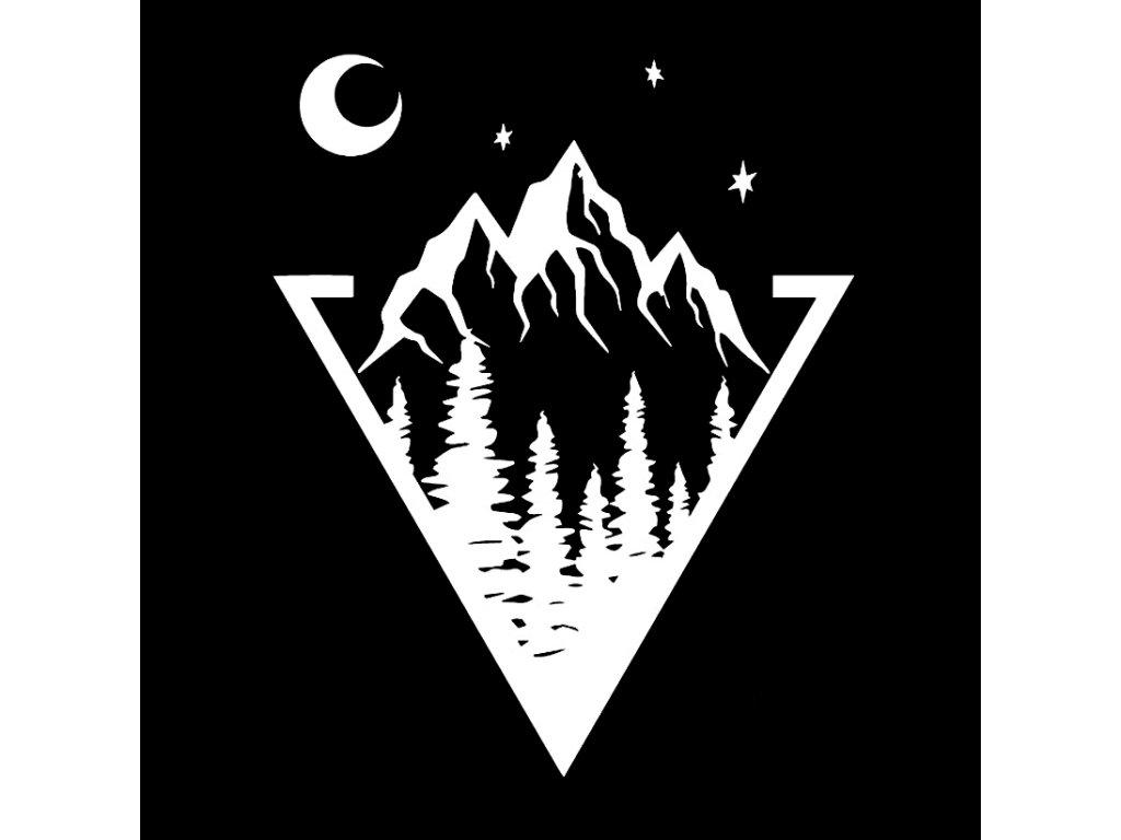 Samolepka na auto Hory Trojúhelník