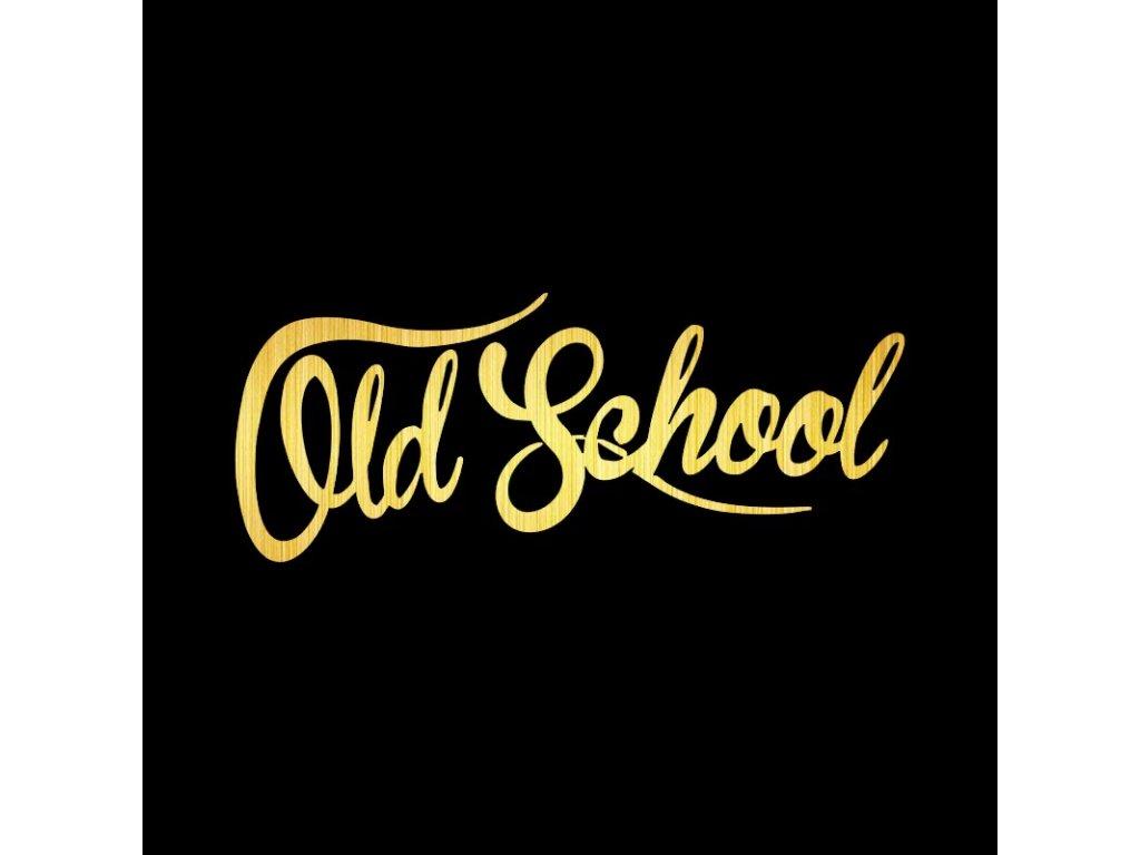 Samolepka na auto Old School nápis